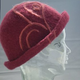 Burgundy downton hats